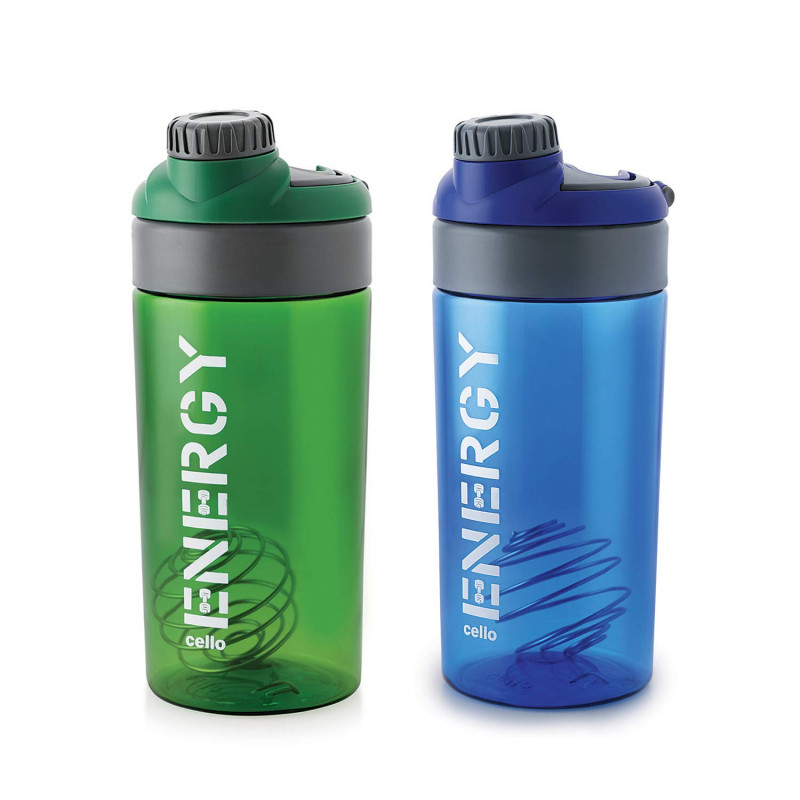 Cello Energy Protein Shake Bottle 700 ml Set of 2 Color May Vary